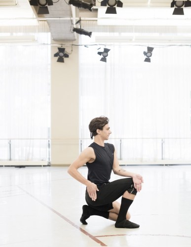Francesco Gabriele Frola Rehearsing Nijinsky. Photo By Karolina Kuras, 2017