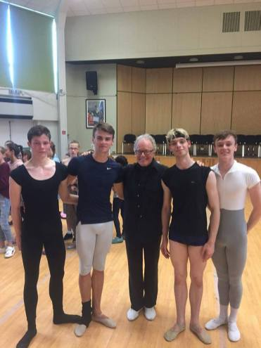 Students With Anthony Dowell