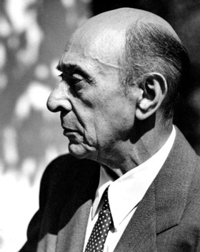 Arnold Schoenberg in Los Angeles 1948, photo by Florence Homolka