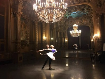 Myriam Ould-Braham and István Simon rehearsing at the Palais Garnier 2