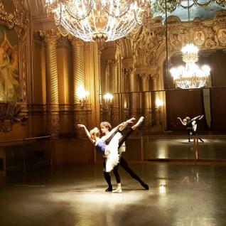 Myriam Ould-Braham and István Simon rehearsing at the Palais Garnier