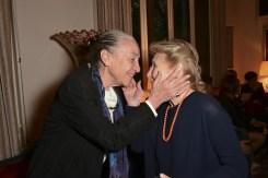 Luisa Spinatelli with Italian actress Giulia Lazzarini