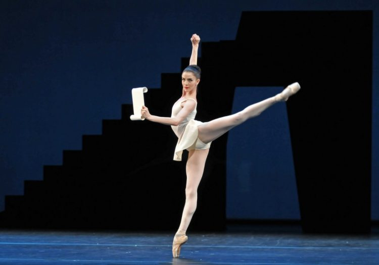 Balanchine's Apollo with Olivia Cowley as Calliope © ROH, Dave Morgan