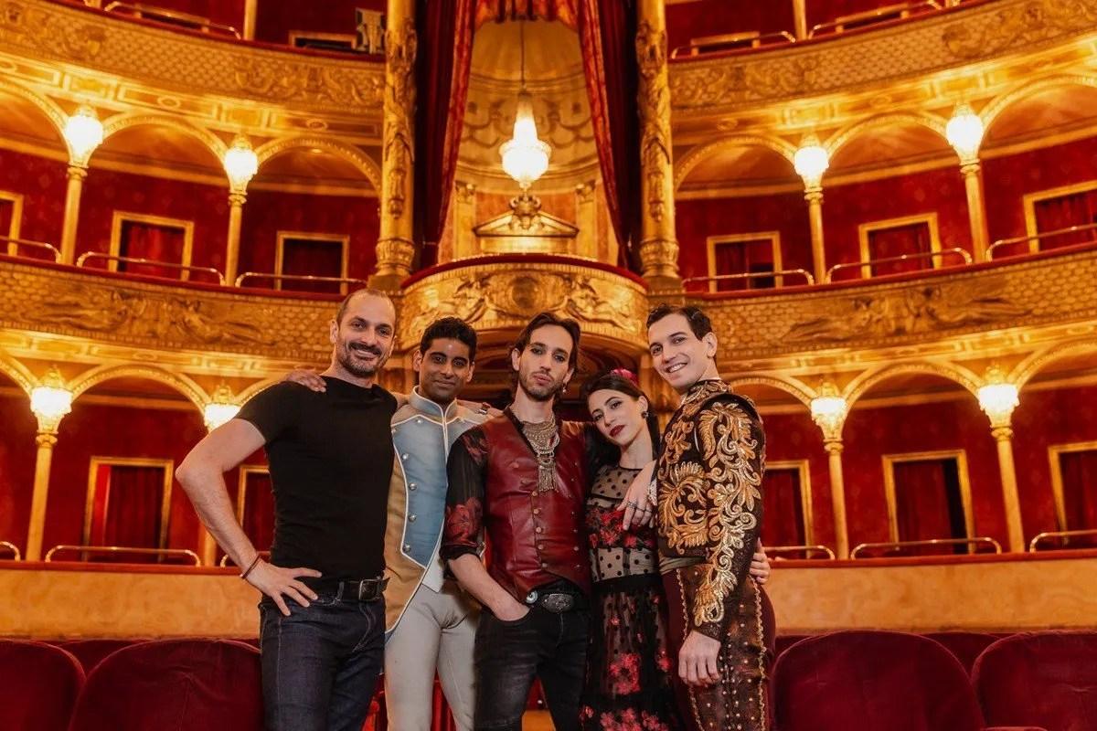 Bubeníček Ramasar (Don Josè) Cocino (Garcia) Bianchi (Carmen) Rezza (Lucas) in Carmen by Bubeníček, photo ® Yasuko Kageyama