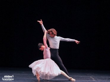 Maria Alexandrova and Vladislav Lantratov, Fonteyn and Nureyev pas de deux from Nureyev, photo by Graham Spicer