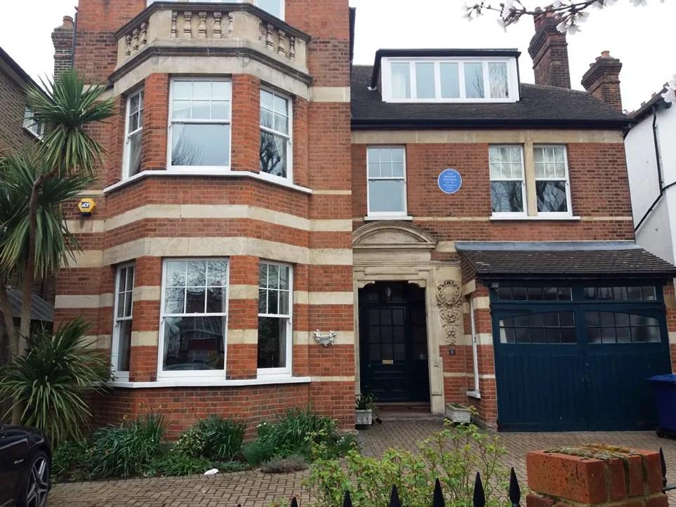 Margot Fonteyn's blue plaque at e Elm Grove, Ealing