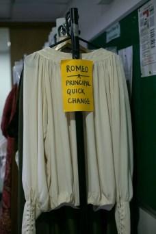 03 Quick change rack, Romeo and Juliet © Dasa Wharton