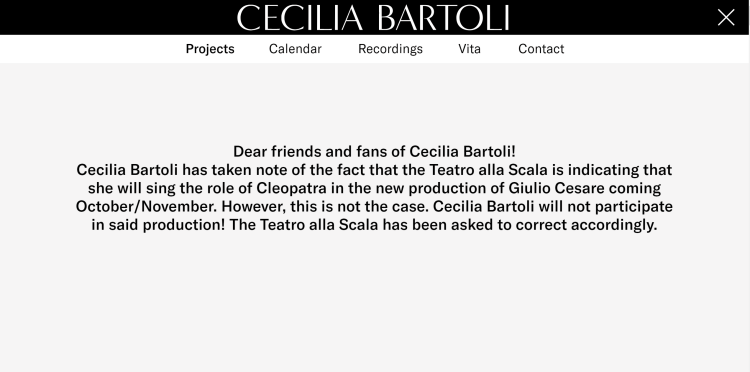 Cecilia Bartoli announcement