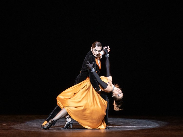 Darcey Bussell and Gary Avis in Fascade photo Andrej Uspesnski