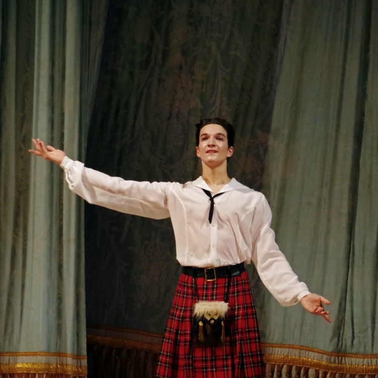 Curtain call for Shale Wagman after La Sylphide, photo by Catherine Pollak