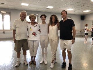 Last class in Monaco with, from left, grandparents Phillip and Eleanor Starkman, Shale Wagman, Heather Wagman, and dad, Michael Wagman