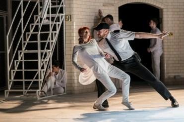 Matthew Bourne, Romeo and Juliet, Juliet (Cordelia Braithwaite) and Tybalt (Dan Wright) Capulet Company