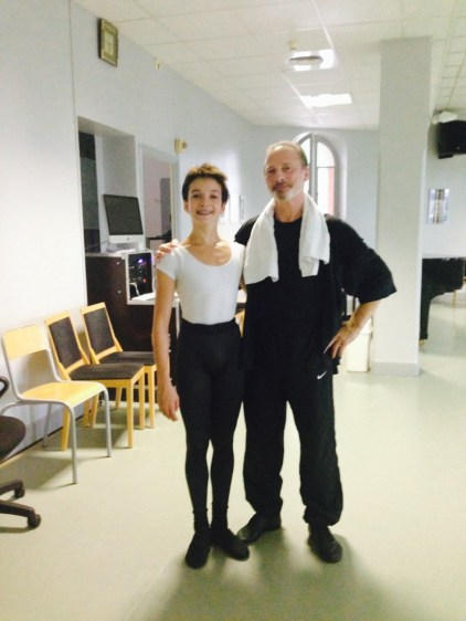 Shale Wagman at 14 with his teacher Michel Rahn
