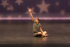 Shale Wagman dancing a solo called Mad World, at 12