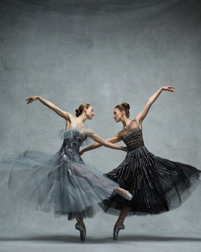 Christine Shevchenko and Devon Teuscher, Principals, American Ballet Theatre Clothing by Oscar de la Renta © Ken Browar and Deborah Ory