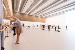 English National Ballet's new home on London City Island rehearsal studio © Ian Gavan