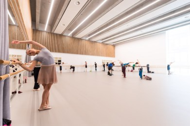 English National Ballet's new home on London City Island rehearsal studio © Ian Gavan