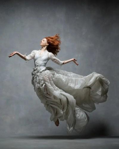 Heather McGinley, Paul Taylor Dance Company Silk parachute dress by Norma Kamali © Ken Browar and Deborah Ory