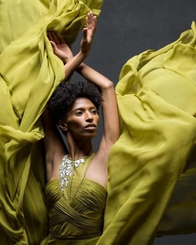Jacqueline Green, Alvin Ailey American Dance Theater Clothing by J. Mendel © Ken Browar and Deborah Ory