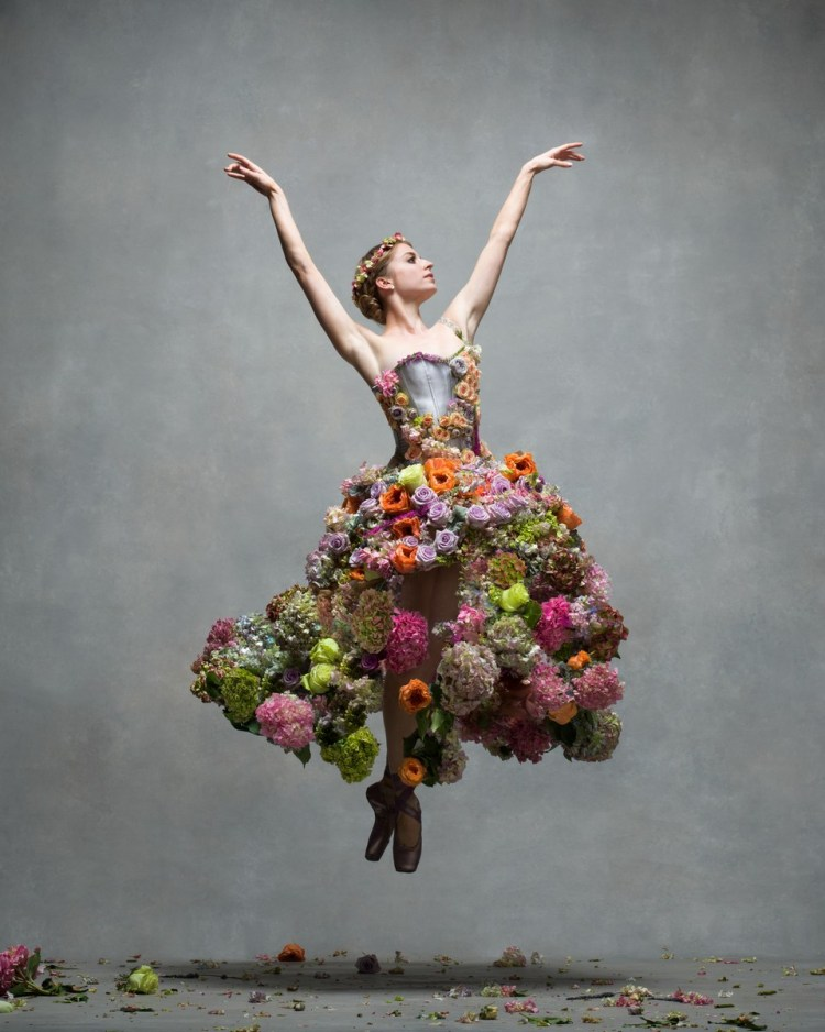 Meaghan Grace Hinkis, Soloist, The Royal Ballet Flower dress by Madeleine Hinkis, floral design by Olga Sahraoui © Ken Browar and Deborah Ory