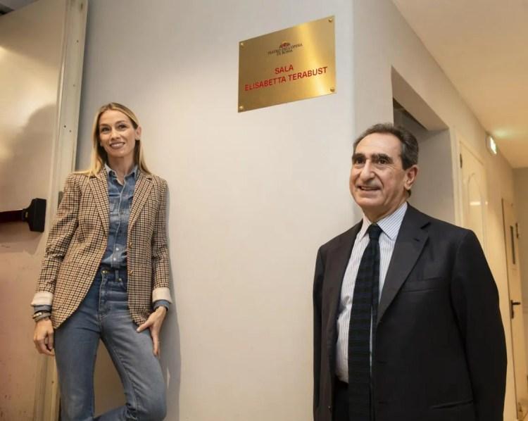 Eleonora Abbagnato and Carlo Fuortes in the new Elisabetta Terabust Dancing Studio © Yasuko Kageyama