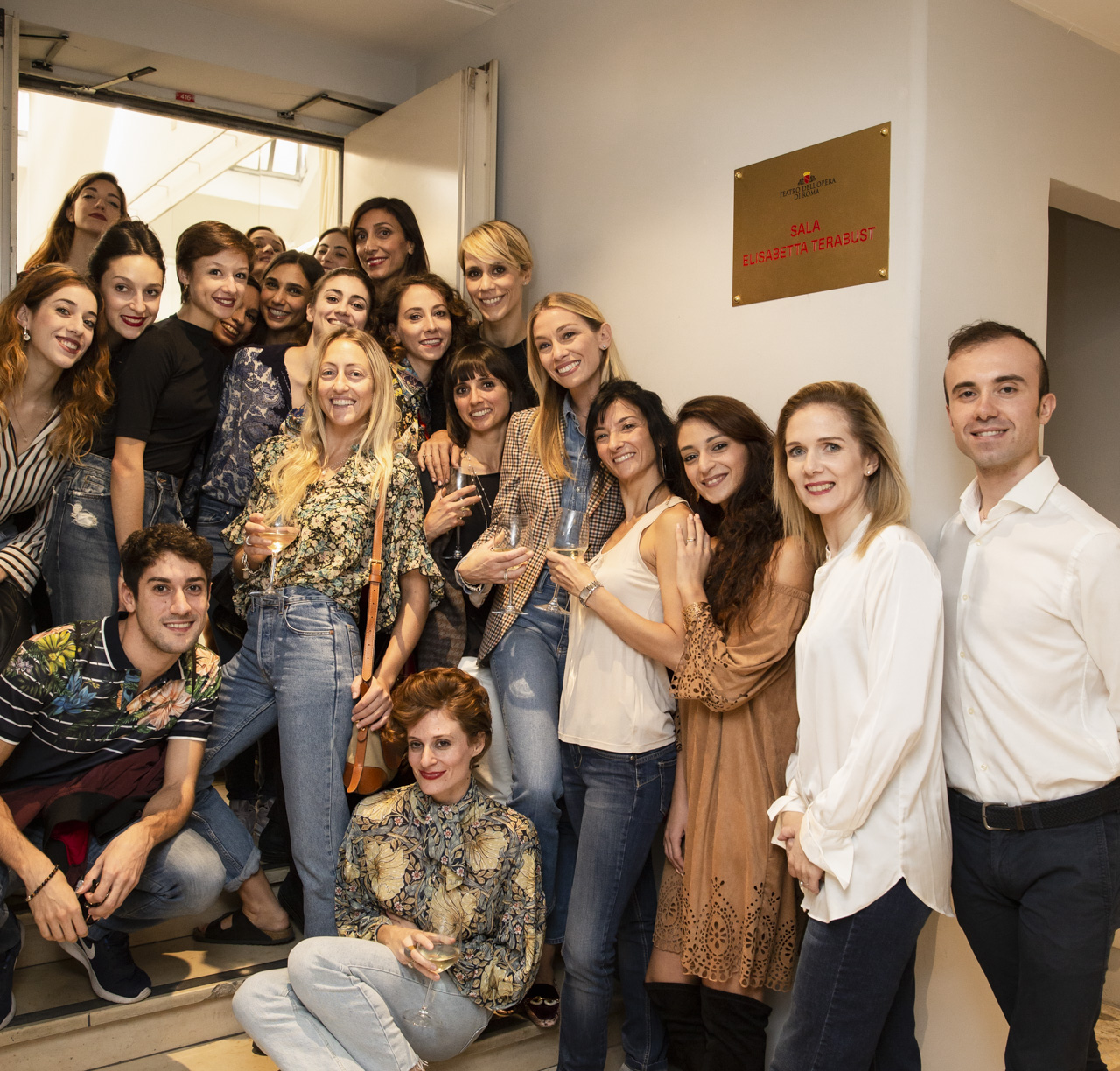 Eleonora Abbagnato and members of the company in the new Elisabetta Terabust Dancing Studio © Yasuko Kageyama