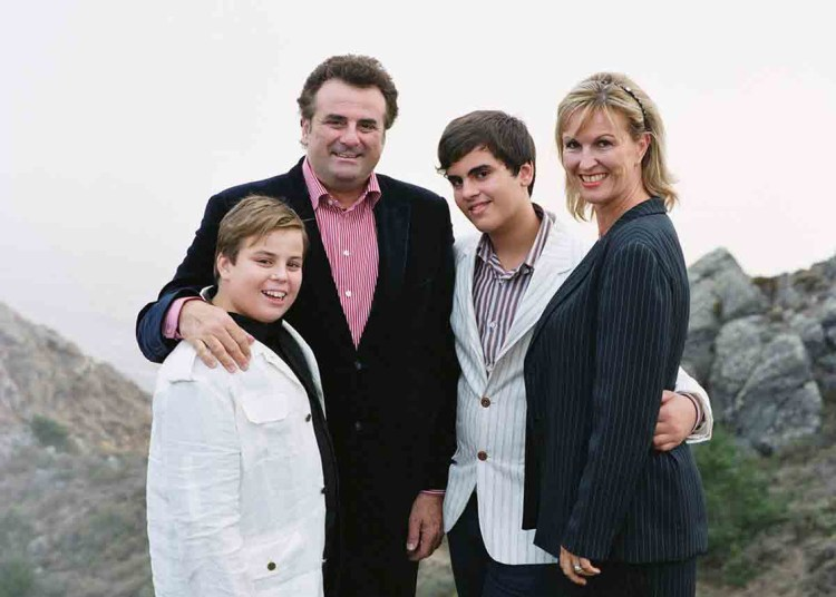 Marcello Giordani and family in 2010
