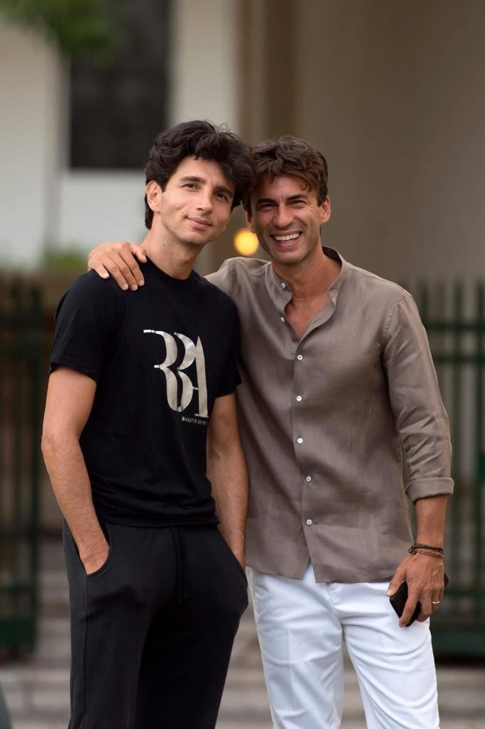 Alessandro Macario with Kledi Kadiu
