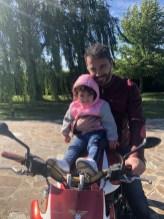 Francesco Lanzillotta with his daughter