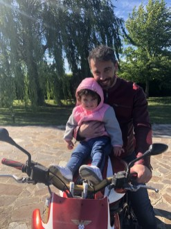 Francesco Lanzillotta with his daughter