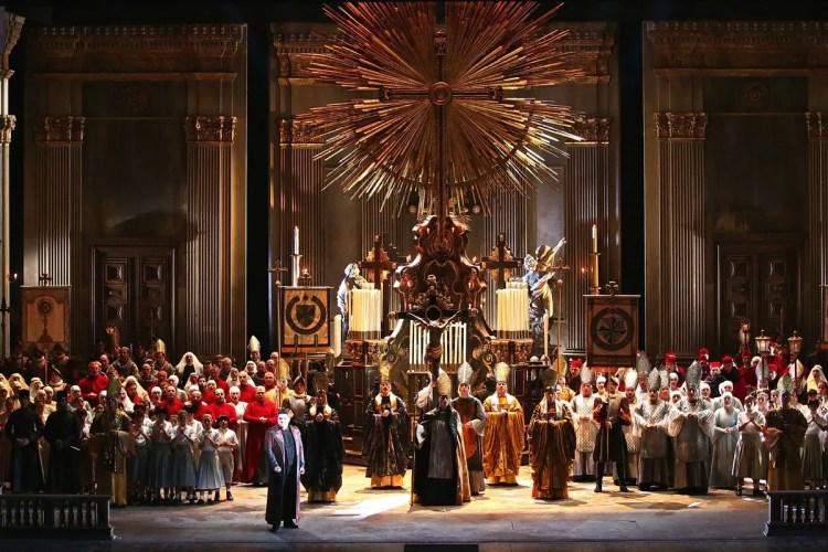 Tosca, Act 1, photo by Brescia e Amisano, Teatro alla Scala 2019