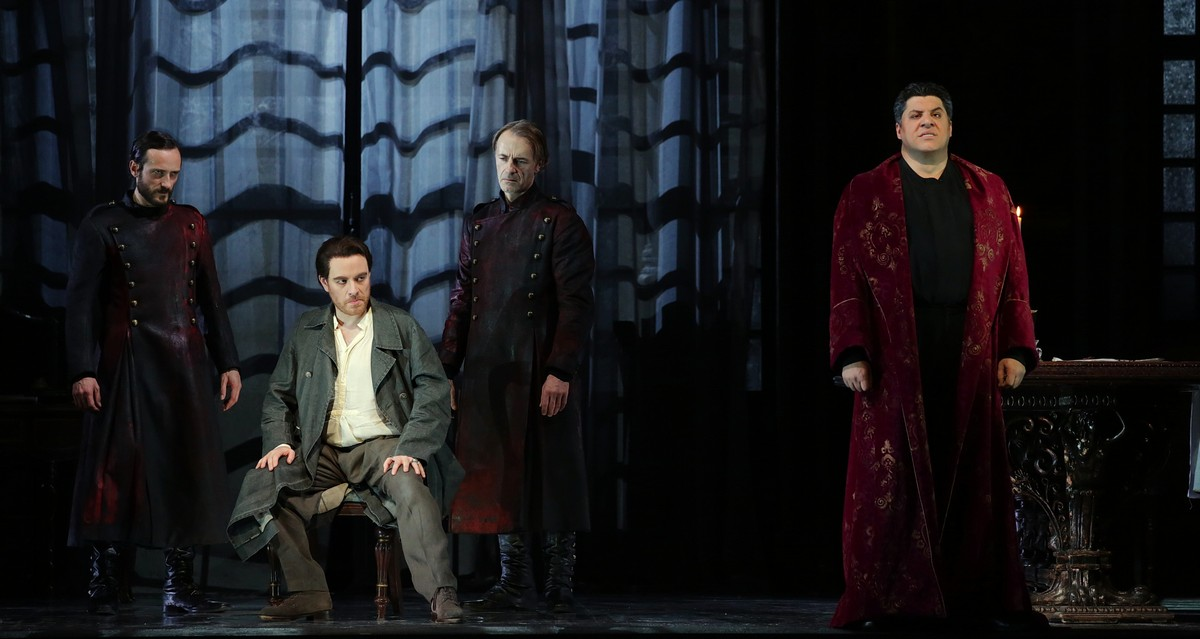 Tosca, Act 2 with Francesco Meli and Luca Salsi, photo Brescia e Amisano, Teatro alla Scala 2019