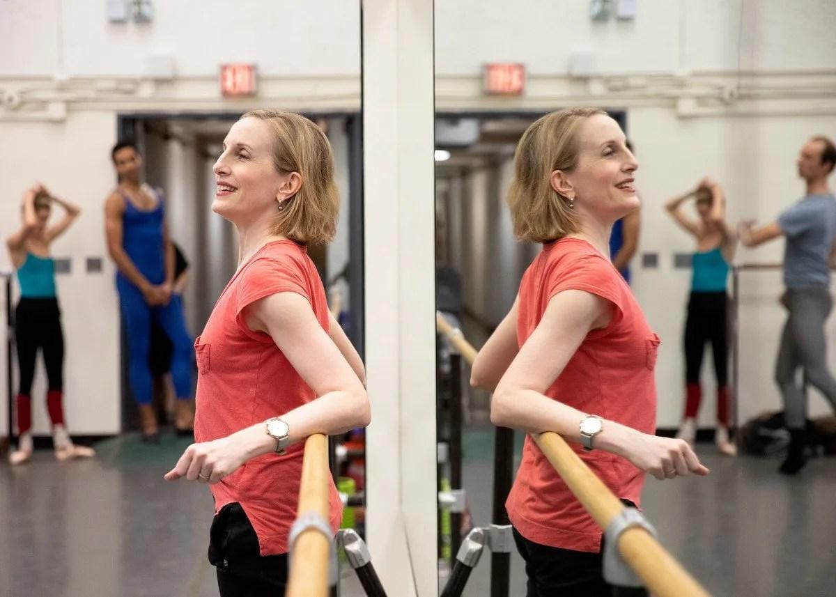 NYCB Associate Artistic Director Wendy Whelan teaching class, photo by Erin Baiano
