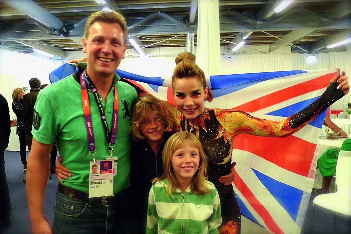 Darcey Bussell and family at the 2012 London Olympics