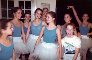 Darcey and friends at the Royal Ballet School
