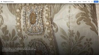 Details of Callas costume for Fedora 1955, Teatro alla Scala and Google Arts and Culture