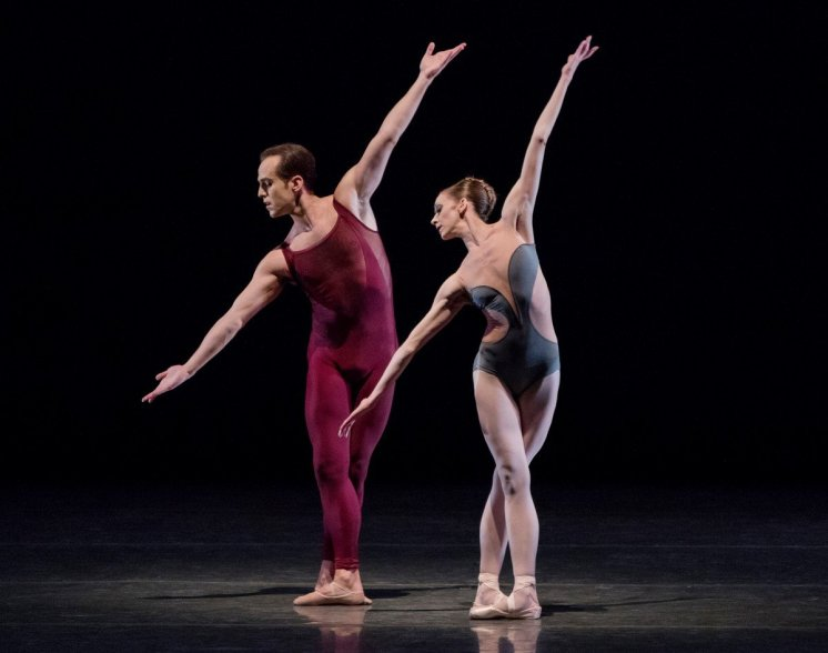 Maria Kowroski and Jared Angle in Wheeldon's Liturgy, photo by Paul Kolnik