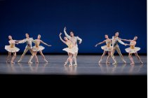 New York City Ballet in Balanchine's Divertimento No. 15, photo by Paul Kolnik