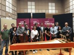 Ottavio Dantone and the Accademia Bizantina in the studio of Radio Nacional de España (RNE)