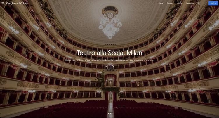Teatro alla Scala and Google Arts and Culture 01