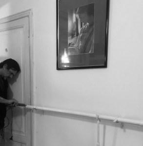 Alejandro making a barre