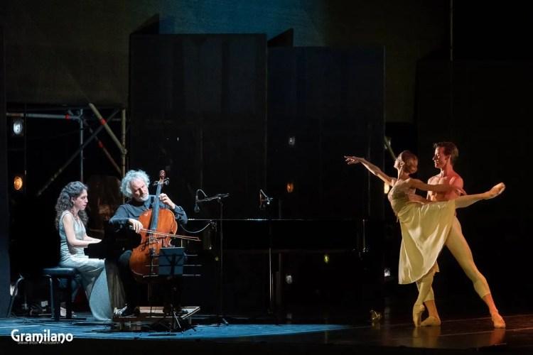 Iana Salenko and Marian Walter with Beatrice Rana and Mario Brunello in Thaïs © Graham Spicer