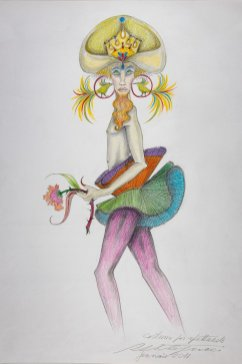 One of Roberto Capucci's designs for The Creatures of Prometheus The Creatures of Capucci 01