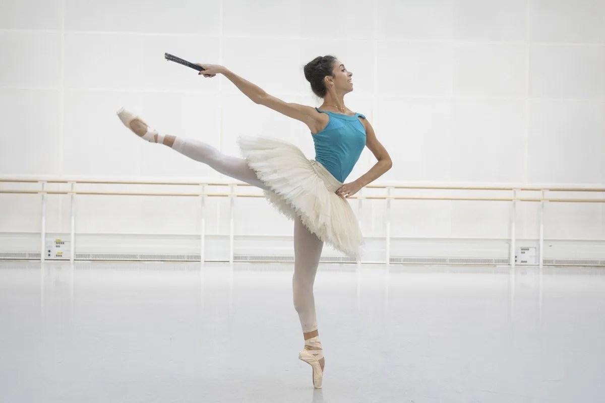 Yasmine Naghdi in rehearsal for Don Quixote, The Royal Ballet © 2019 ROH. Photograph by Andrej Uspenski