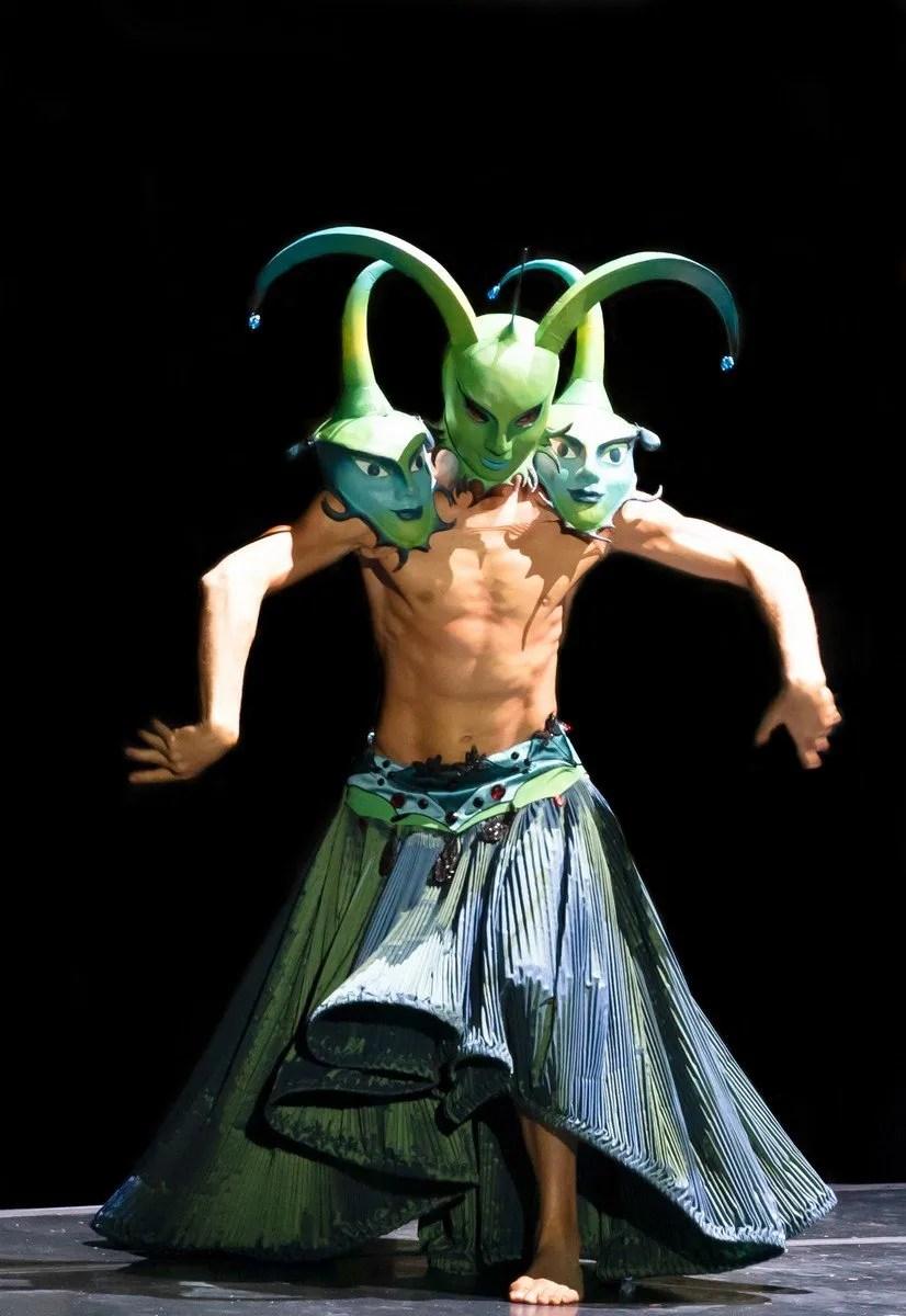 Raffaele Iorio in The Creatures of Prometheus The Creatures of Capucci, photo by Graham Spicer