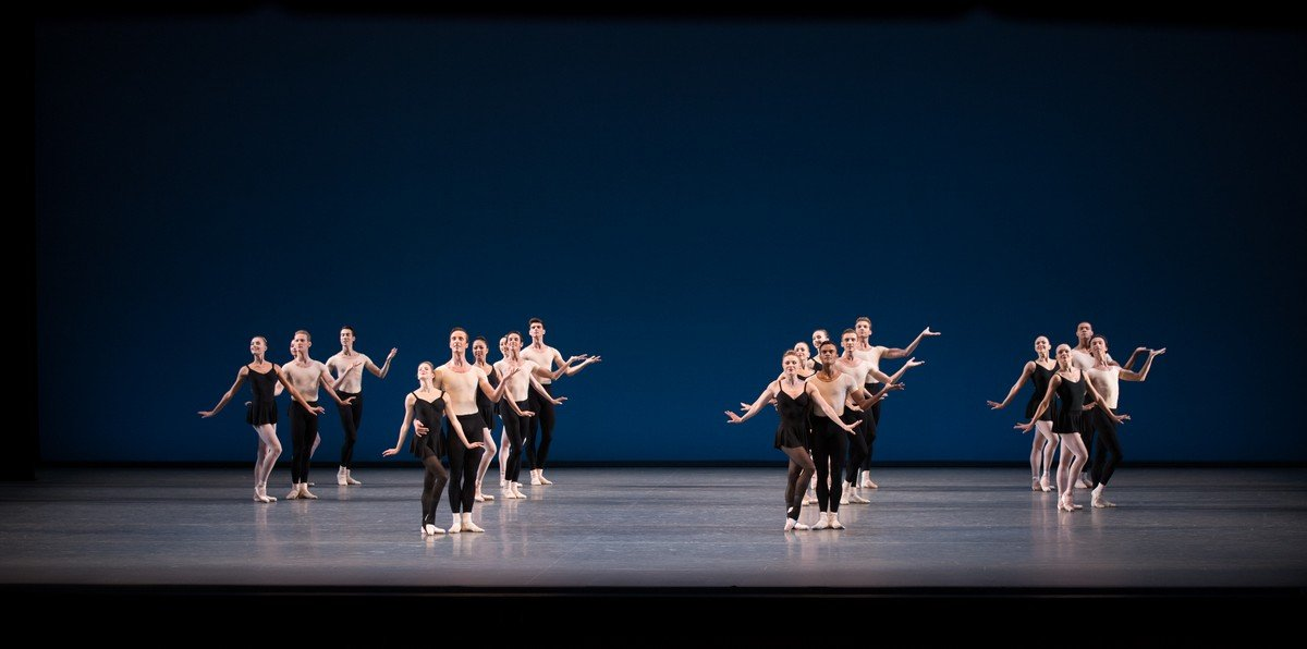 New York City Ballet in George Balanchines Stravinsky Violin Concerto photo by Rosalie OConnor