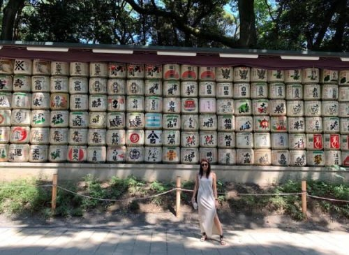 In Tokyo at the Meiji Shrine