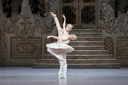 Yasmine Naghdi as The Sugar Plum Fairy and Matthew Ball as The Prince in The Nutcracker, The Royal Ballet © 2017 ROH, photo by Karolina Kuras (1)
