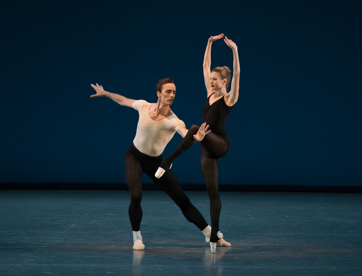 Ask la Cour and Sterling Hyltin in George Balanchine's Stravinsky Violin Concerto, which will stream as part of NYCB's 2021 Digital Season. Photo by Rosalie O'Connor