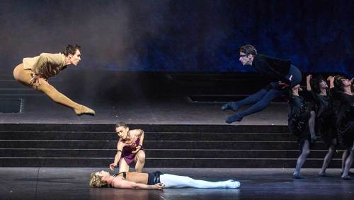 Nicolas Le Riche, Josua Hoffalt,, Eleonora Abbagnato and Florian Magnenet in Notre-Dame de Paris by Roland Petit © Anne Deniau-Opéra national de Paris